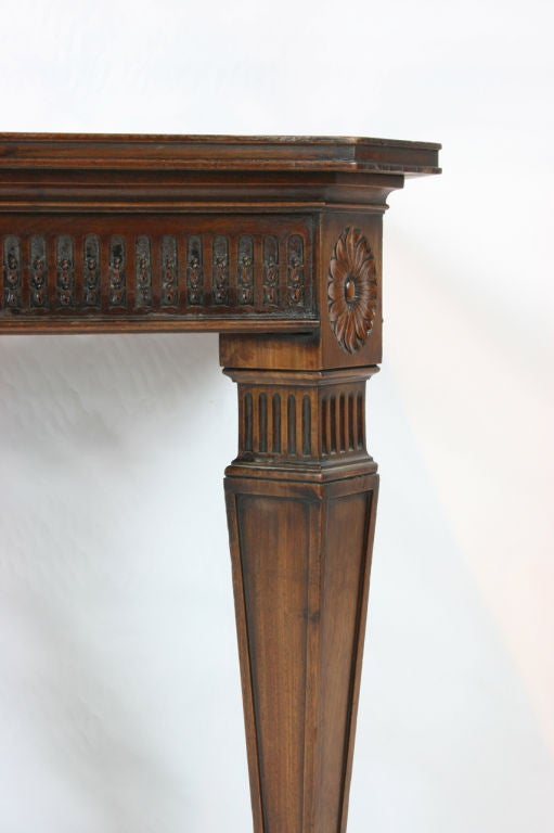 Pair Of Mahogany Wall Mounted Console Tables At 1stdibs