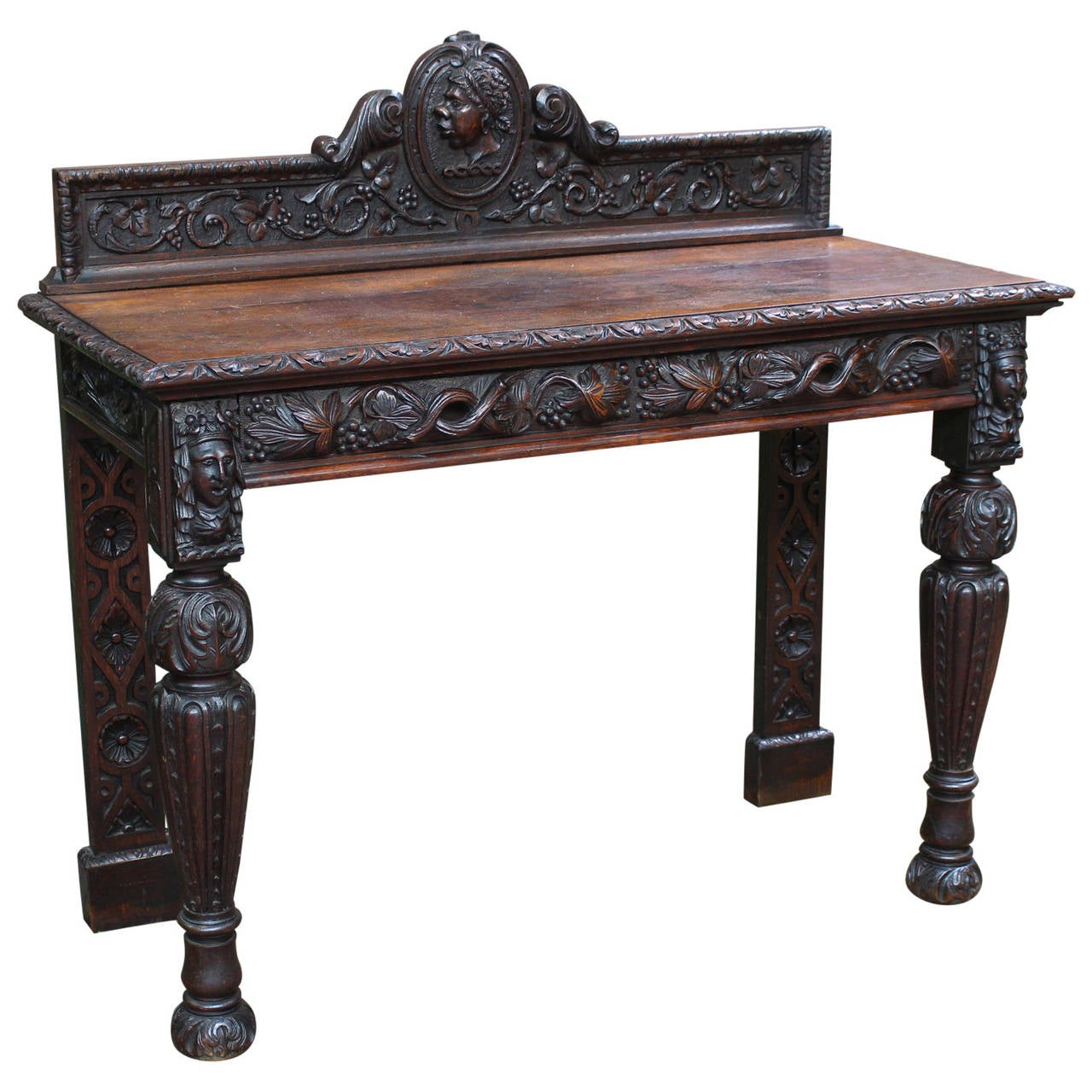 Heavily carved oak pier or serving table for sale at 1stdibs - Archives departementales 33 tables decennales ...