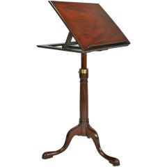 English Mahogany Articulated Book Stand