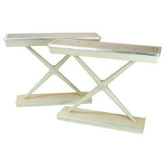"""A Pair of """"X"""" Console Tables"""