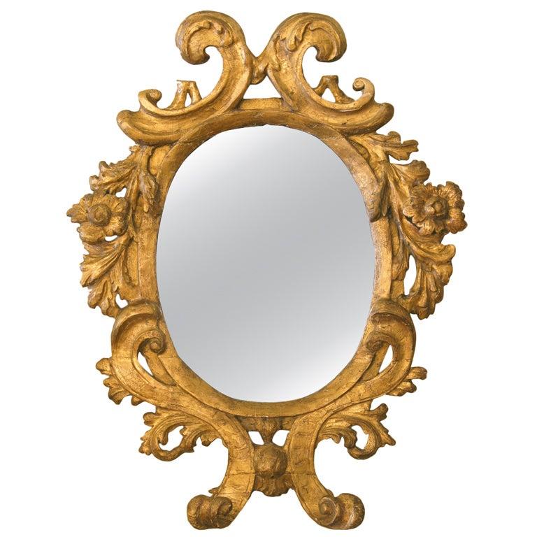 Italian baroque gilt mirror at 1stdibs for Italian baroque mirror