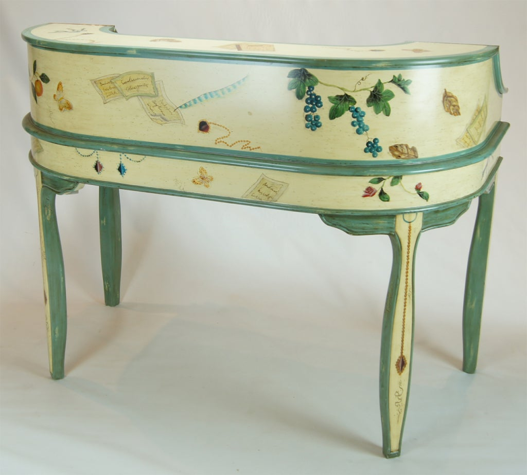 Trompe L'oeil Writing Desk With Matching Chair At 1stdibs. Full resolution  snapshot, nominally Width 1024 Height 924 pixels, snapshot with #4A7363.