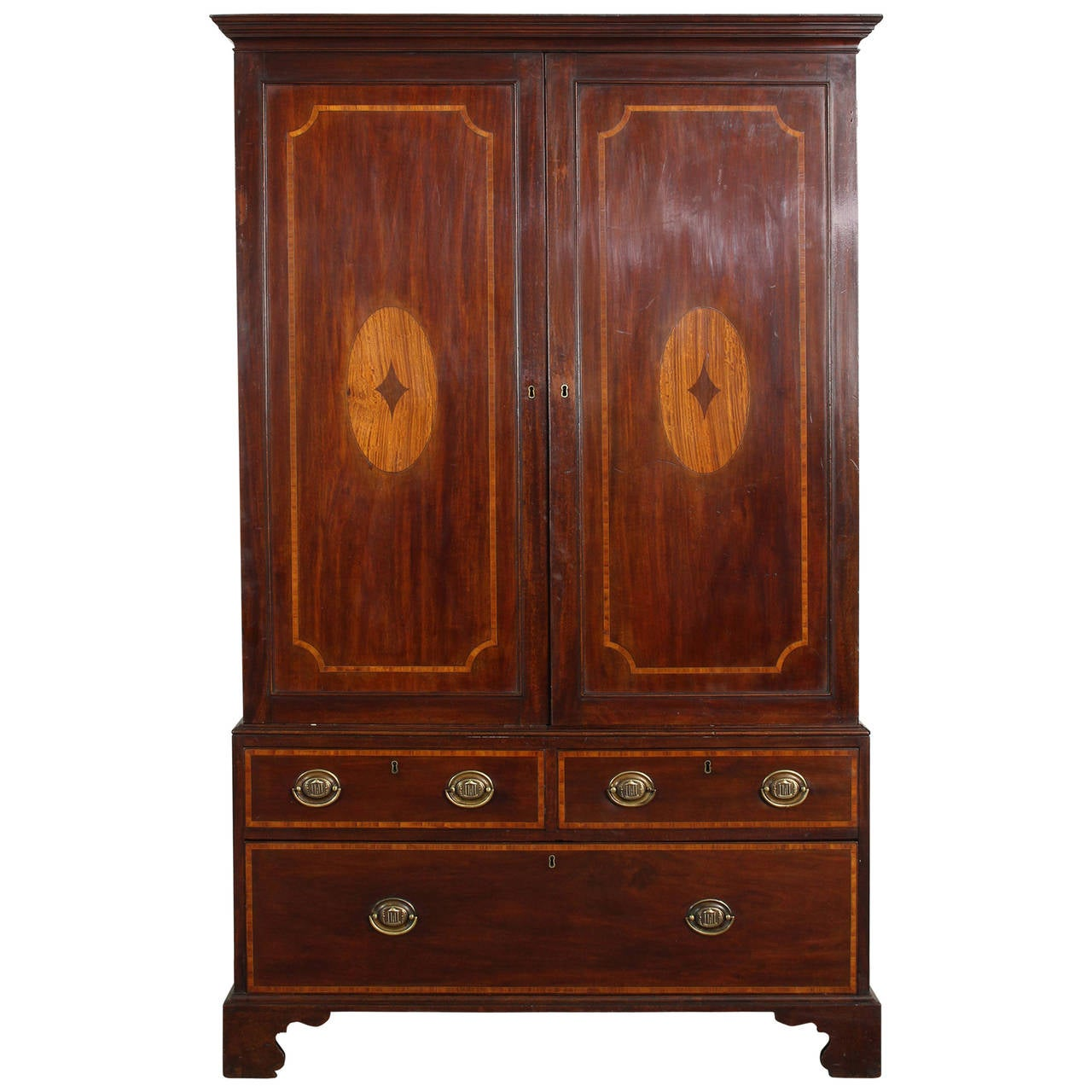 19th Century Mahogany Linen Press For Sale At 1stdibs