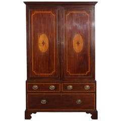 19th Century Mahogany Linen Press