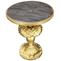 Italian Carved and Giltwood Side Table