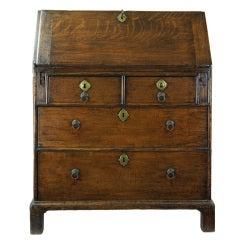 Fine George II Oak Slant Front Desk