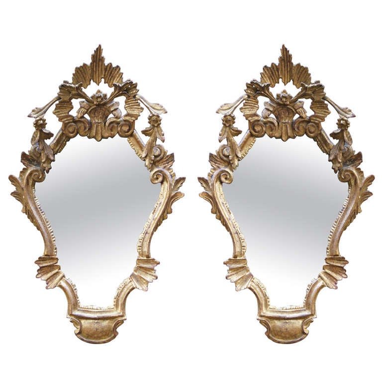 Pair of Venetian Style Mirrors 1