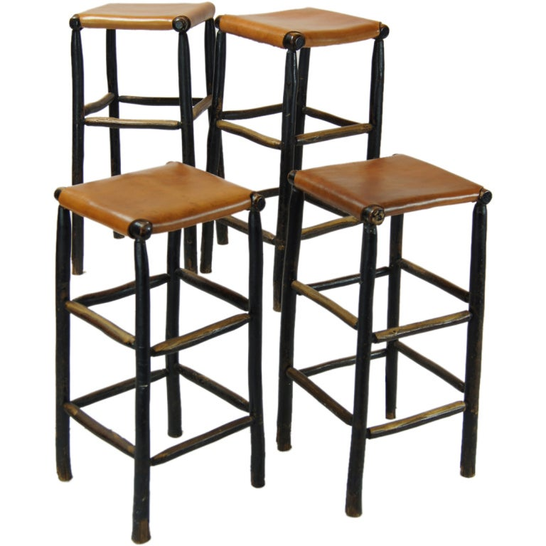 Set Of Four Adirondack Bar Stools At 1stdibs