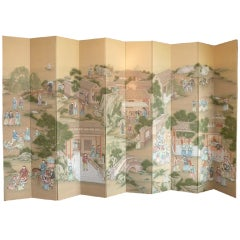 Massive Ten Panel Folding Screen by Gracie