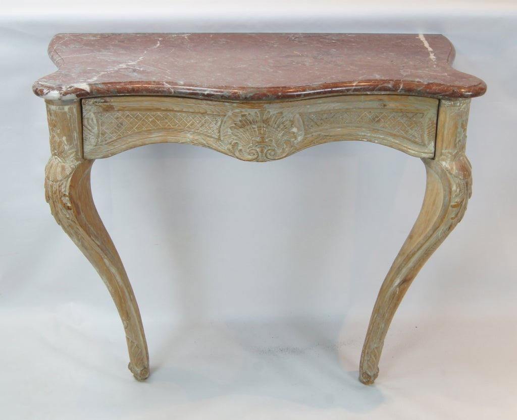 th century french wall mounted console table at stdibs - th century french wall mounted console table