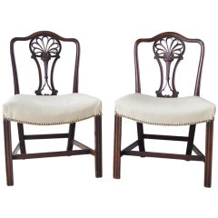 Pair of 18th Century English Racquet-Back Chairs