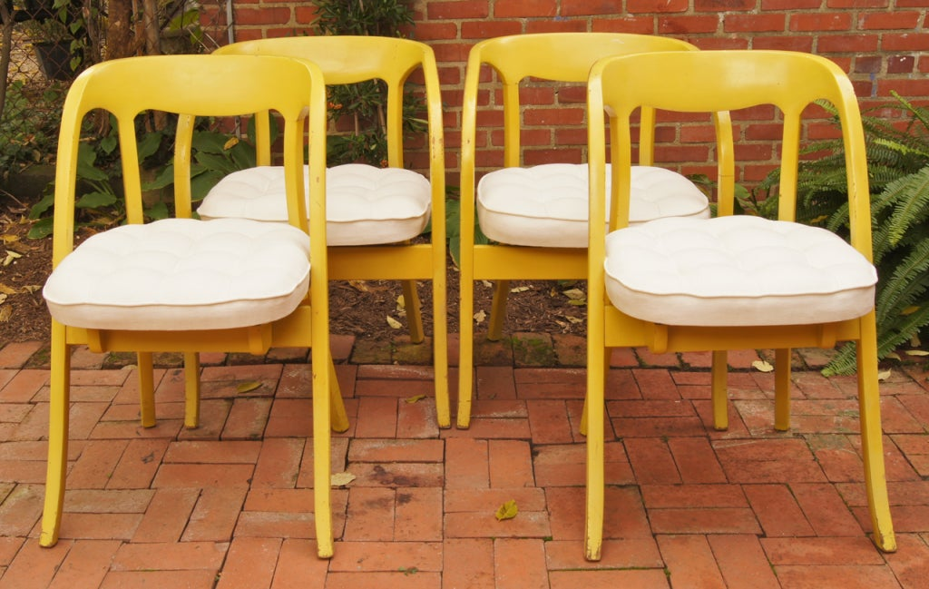 set of four painted mid century modern dining chairs at 1stdibs
