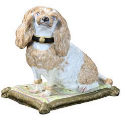 Early 19th Century Meissen Dog