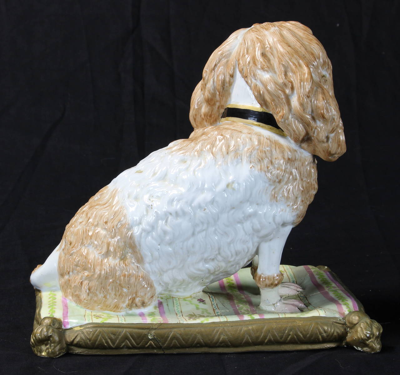 Paint Early 19th Century Meissen Dog For Sale
