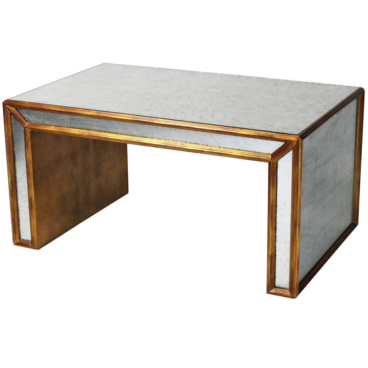 Silver And Gold Leaf Cocktail Table At 1stdibs