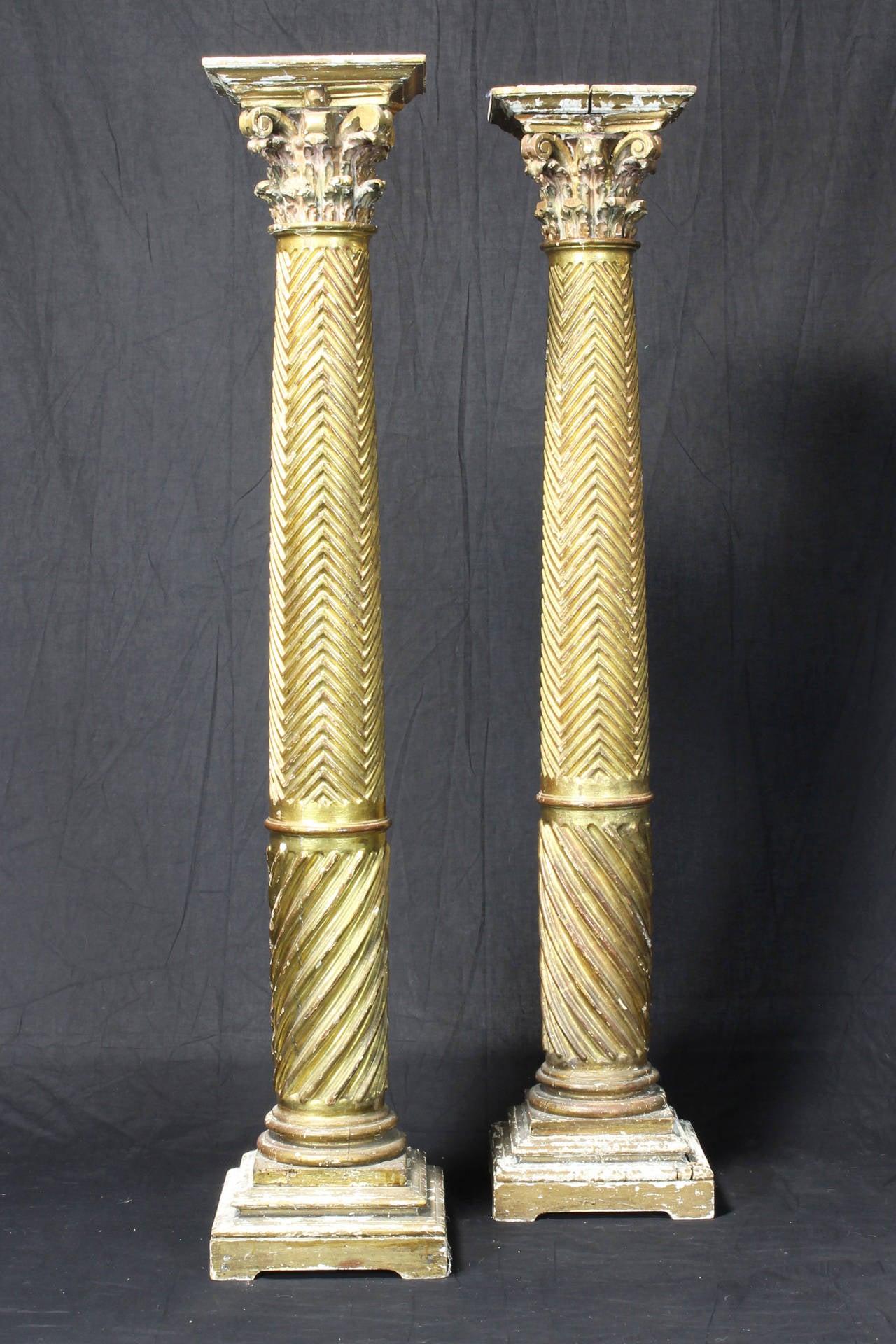 Pair Of 19th Century Italian Neoclassical Gilt Wood