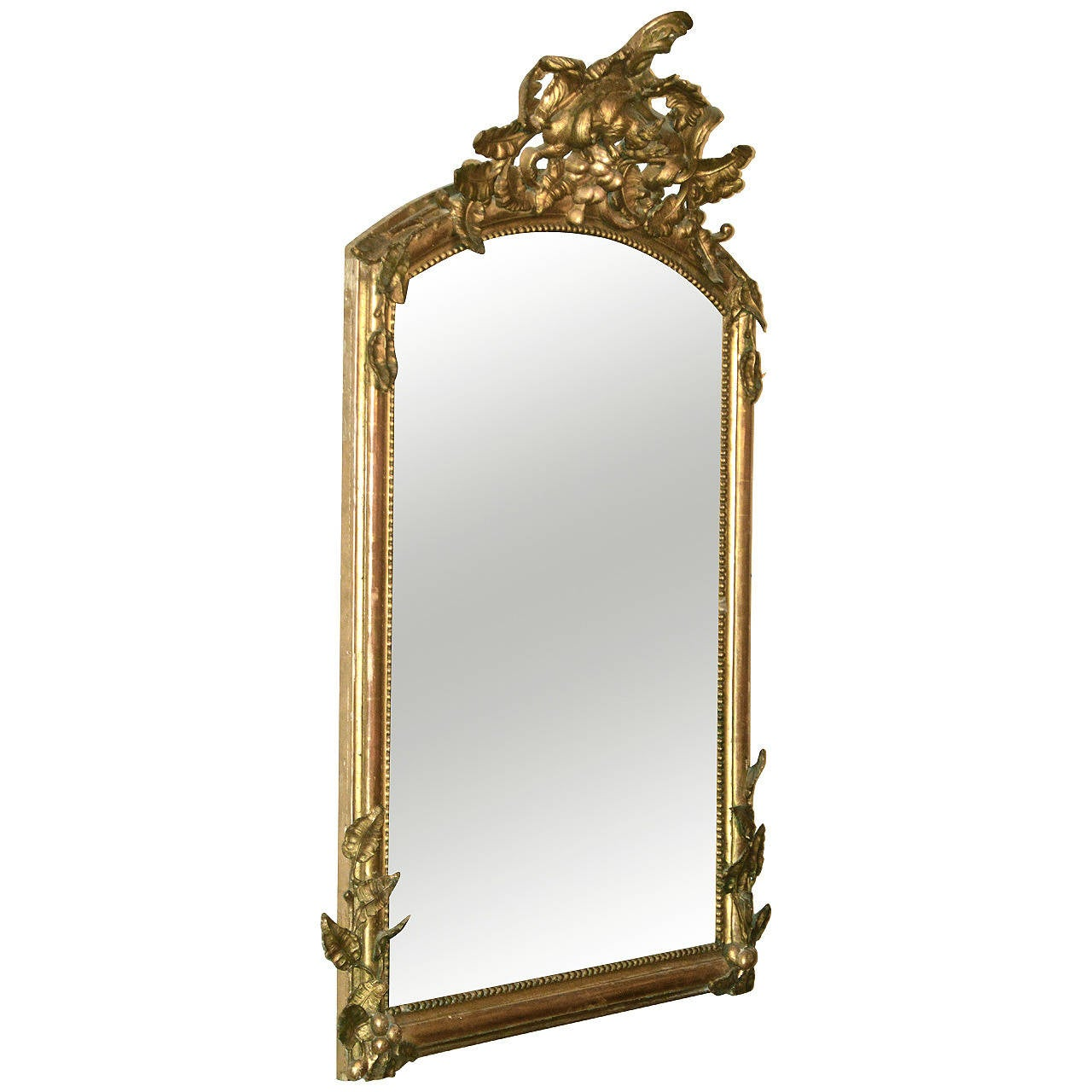 large rococo style 19th century french gilt mirror at 1stdibs
