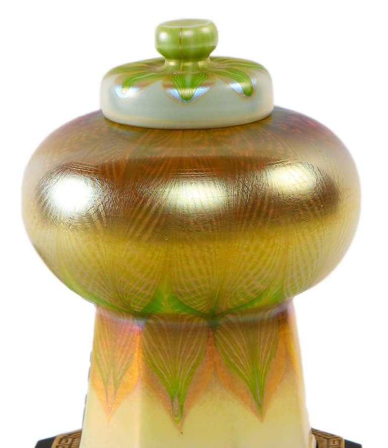 And bronze table lamp tiffany studios the shade with iridescent green - Tiffany Studios Quot Mosque Quot Lamp At 1stdibs
