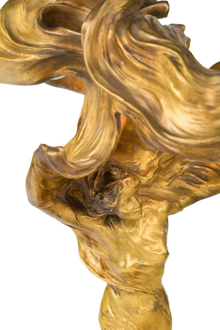 nouveau sculptural l quot lo 239 e fuller quot by fran 231 ois raoul larche at 1stdibs