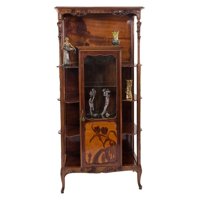 a rare french art nouveau tag re by louis majorelle at 1stdibs. Black Bedroom Furniture Sets. Home Design Ideas