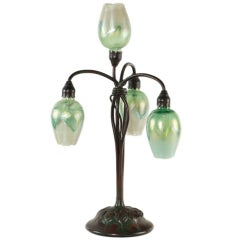 Tiffany Studios Four Light Lily Table Lamp