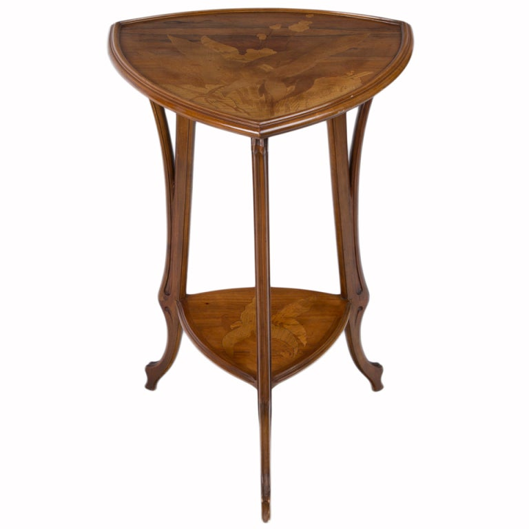 French Art Nouveau Side Table by, Emile Gallé For Sale