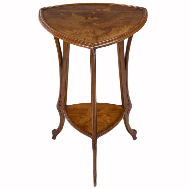 French Art Nouveau Side Table by, Emile Gallé 1