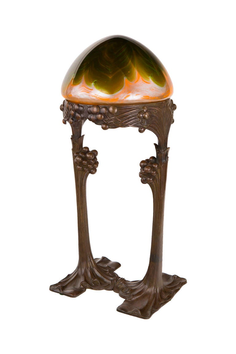 An Austrian Secession Table Lamp By Gustav Gurschner At