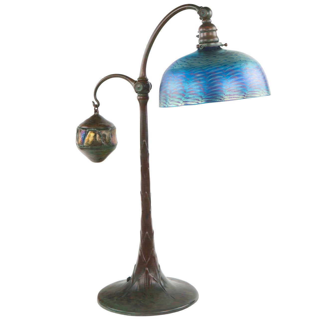 """Turtleback Tile Counter Balance"" Desk Lamp by Tiffany Studios"