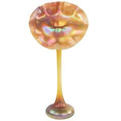 "Tiffany Favrile ""Jack in the Pulpit"" Vase"