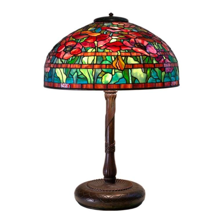 Tiffany Studios Oriental Poppy Table Lamp at 1stdibs
