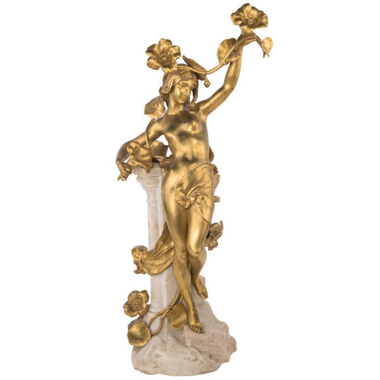 A French Art Nouveau Sculpture by, Jean-Baptiste Germain
