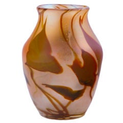 Tiffany Favrile Autumn Leaf Paperweight Vase
