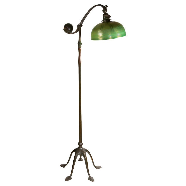 tiffany studios counter balance floor lamp at 1stdibs With tiffany counterbalance floor lamp