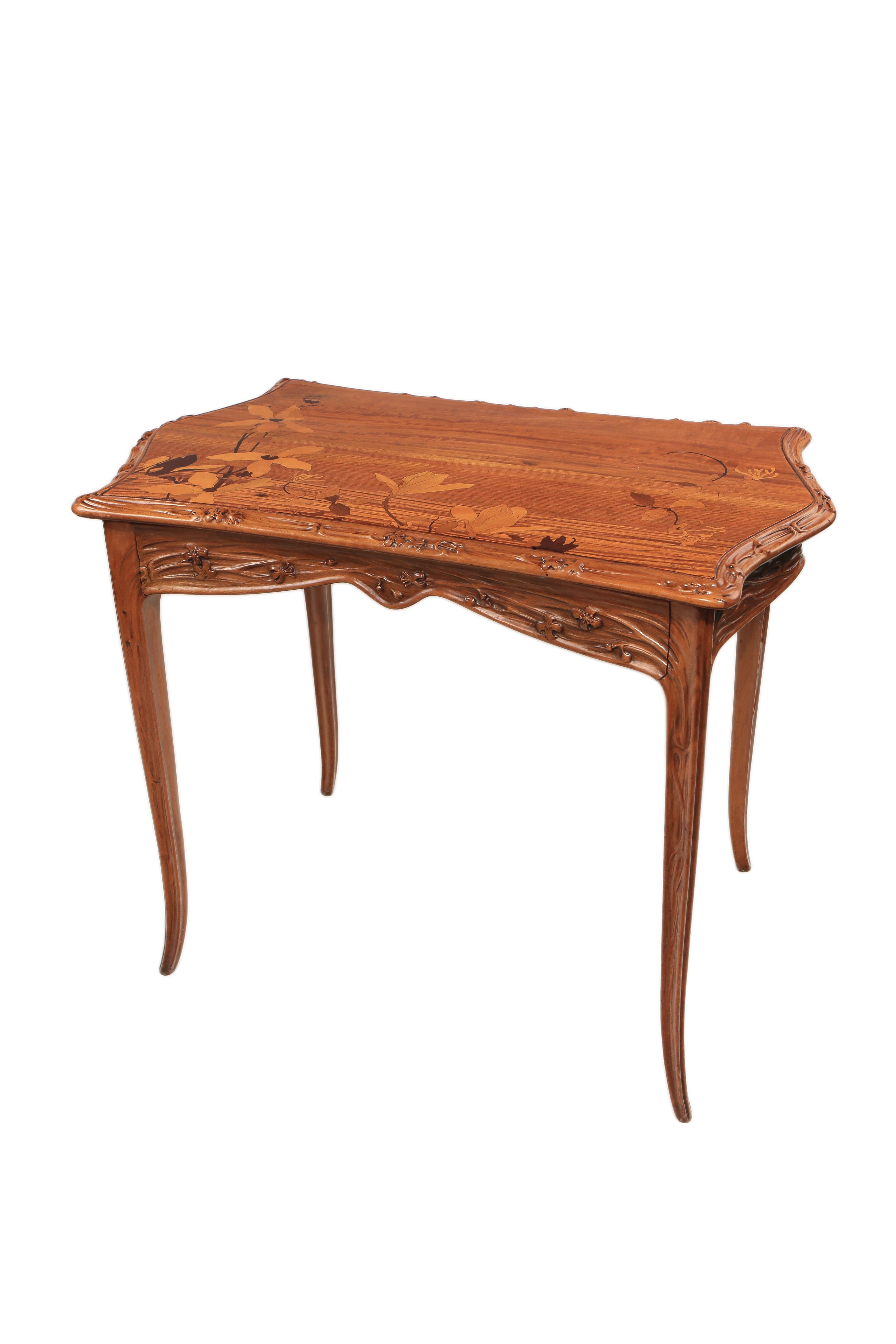 "French Art Nouveau ""Magnolia"" Desk by, Louis Majorelle"