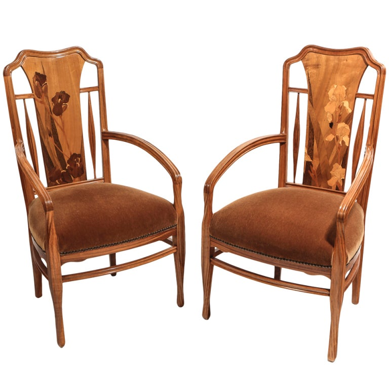 French Art Nouveau Arm Chairs By Louis Majorelle At 1stdibs