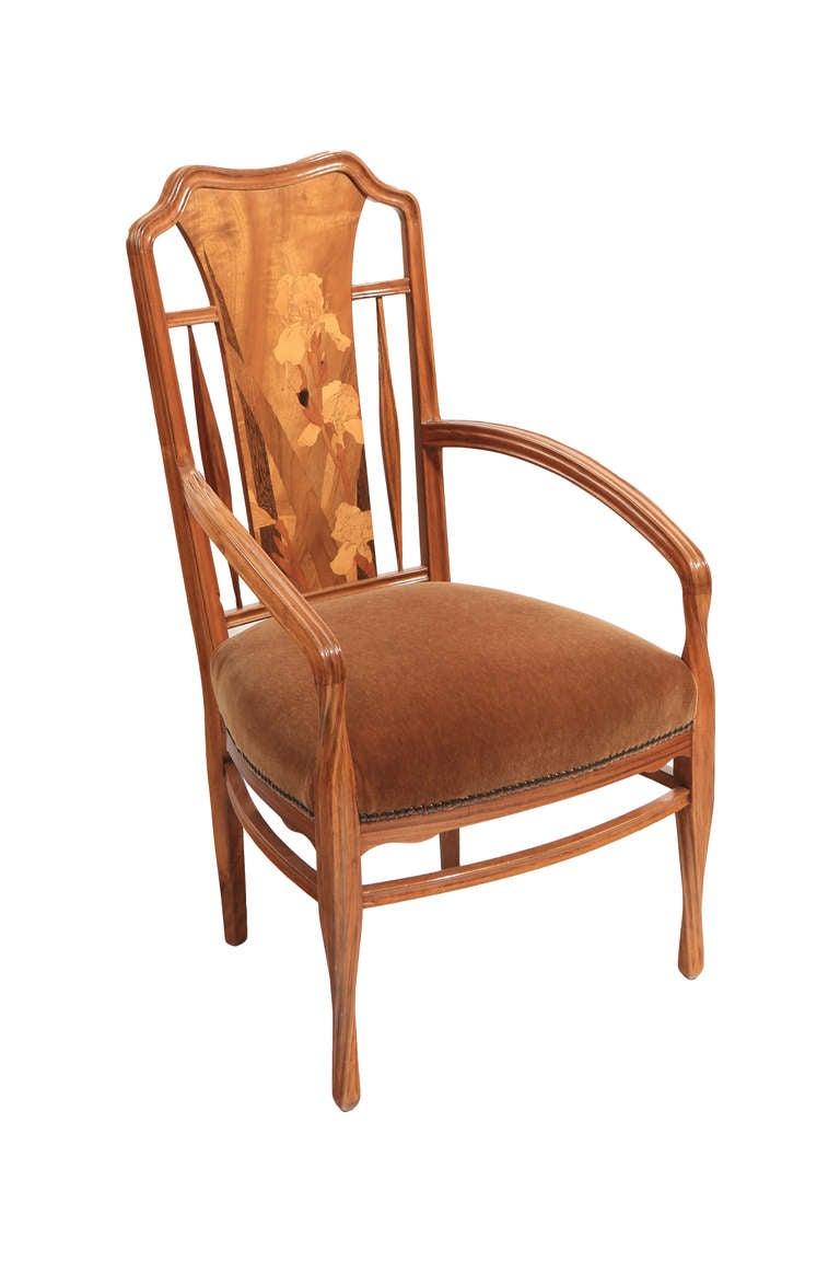 Art Nouveau Furniture French Art Nouveau Arm Chairs