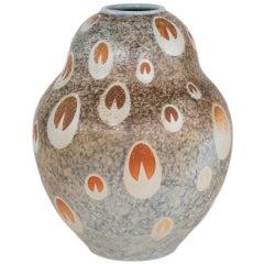 """An Art Deco Style """"Peacock"""" Porcelain Decorative Vase"""
