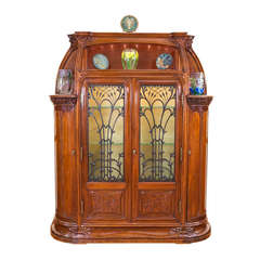 A Rare French Art Nouveau Vitrine by Louis Majorelle