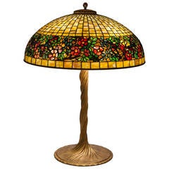 """Art Nouveau """"Belted Rose"""" Table Lamp by Tiffany Studios"""