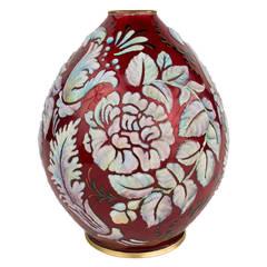 "Art Deco ""Stylized Floral"" Vase by Camille Fauré"