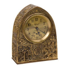 Tiffany Studios Bookmark Pattern Desk Clock thumbnail 1