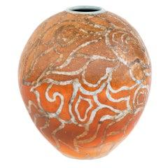 An Art Deco Style Ceramic Decorative Vase by Douglas Breitbart
