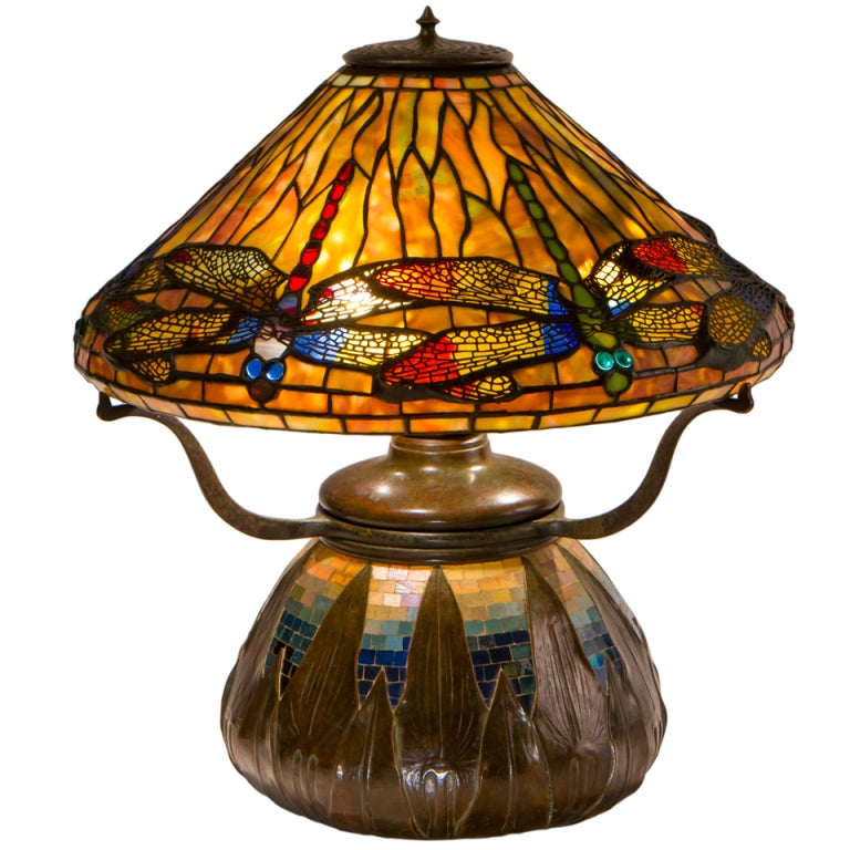 Tiffany Studios Dragonfly Table Lamp 1