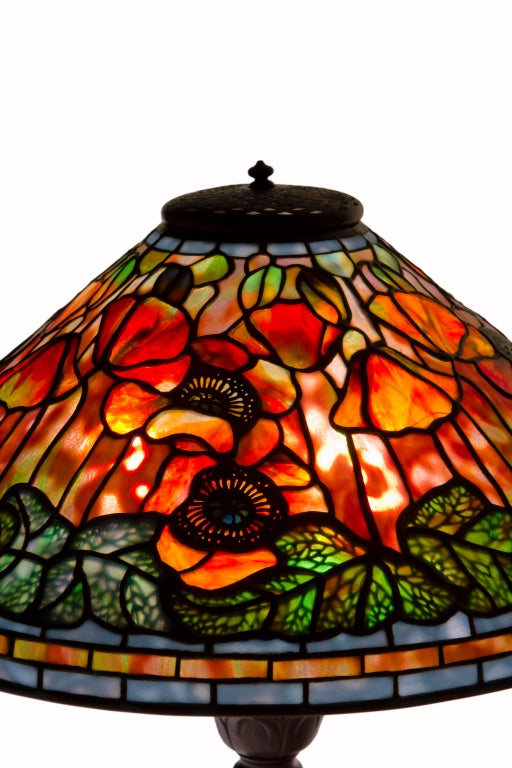 Tiffany Studios Sunset Poppy Table Lamp at 1stdibs