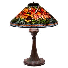 Tiffany Studios Sunset Poppy Table Lamp
