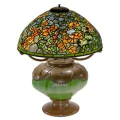Tiffany Studios Elaborate Rambling Rose Table Lamp