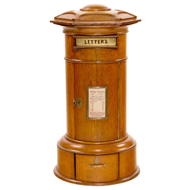 A 19th Century English Victorian Oak Desktop Letterbox For Sale
