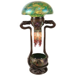 Austrian Art Nouveau Serpent Table Lamp