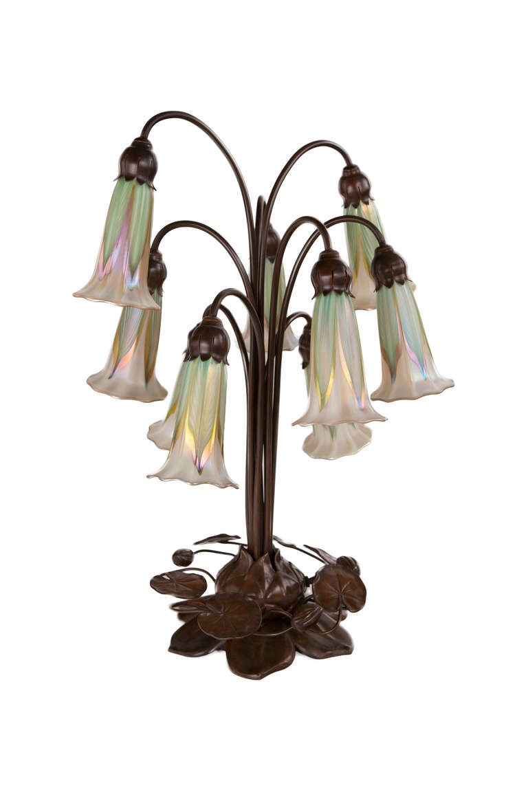 American Art Nouveau Quot Lily Quot Table Lamp By Quezal At 1stdibs